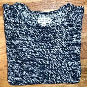 Nili Lotan Blue White Marled Knit Sweater Sz S